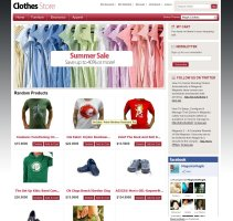 Clothes Store Magento template